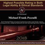 AV Preeminent Rating award for 2018 for Attorney Michael F. Pezzulli
