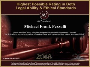 Michael Pezzulli maintains the highest possible rating in ability and ethics