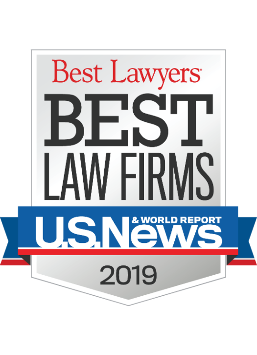 2019 Award given by U.S. News & World honoring the office of Michael Pezzulli as a top rated law firm
